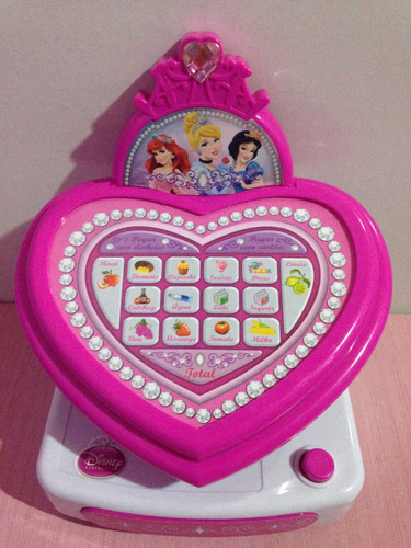 smart caixa registradora princesas disney original yellow