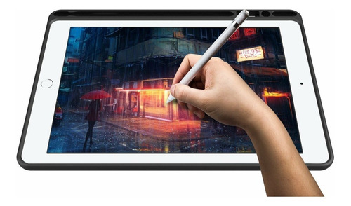 smart case capa para new ipad 6 2018 9.7' slot apple pencil