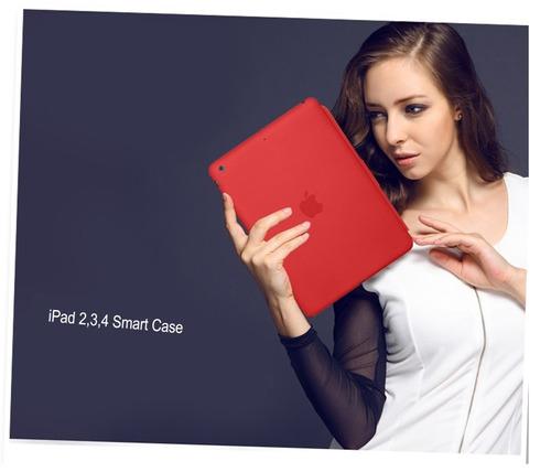 smart case cuero magnético ipad 2 3 4 retina apple