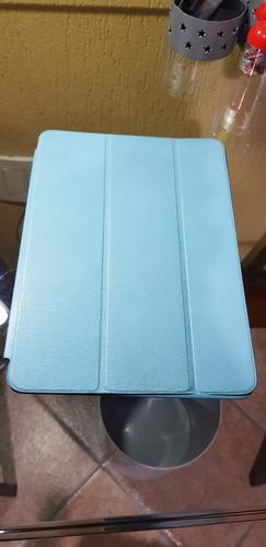 smart case ipad air frente/verso azul couro original apple