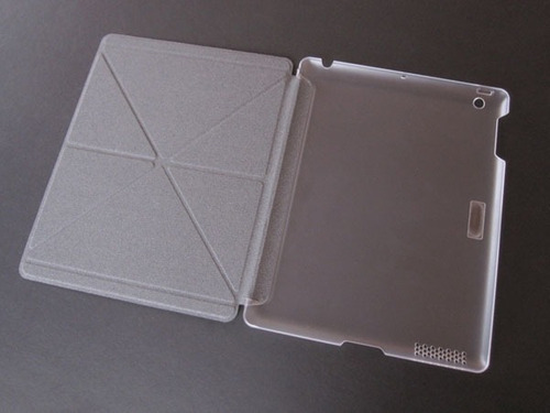 smart cover  ipad air 1,  gris con transparente hielo. moshi