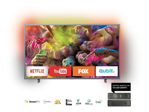 smart led 4k ultradelgado tv 55 philips mod. 55pug6703/77 en 18 cuotas