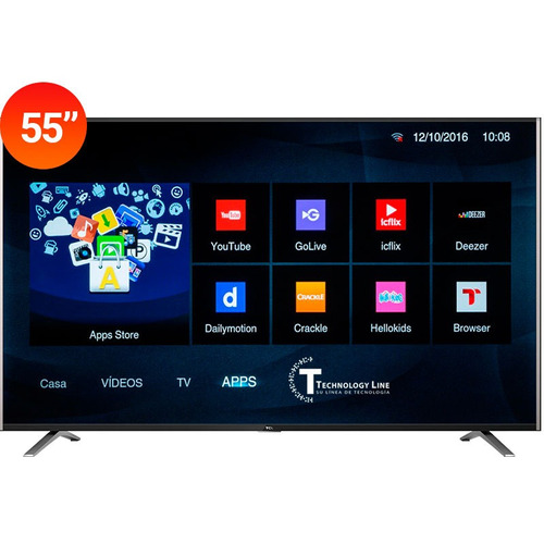 smart led tv tcl led 55 4k ultra hd netflix youtube