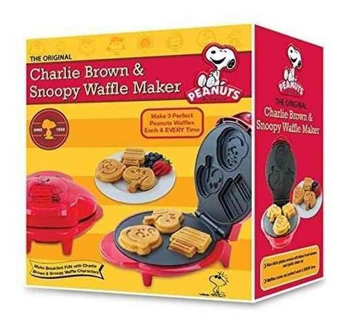 smart planet wm-6s peanuts snoopy and charlie brown waffle m