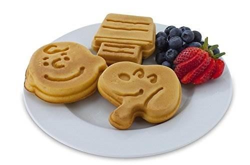smart planet wm-6s peanuts snoopy y charlie brown waffle mak