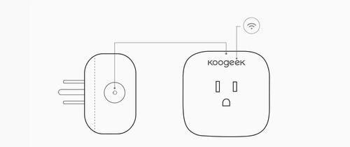 smart plug, toma inteligente koogeek p1