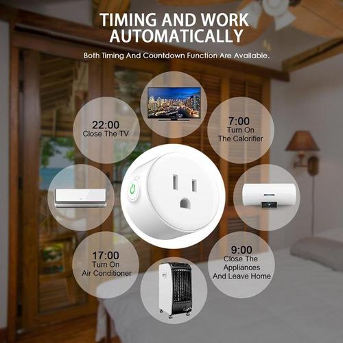 smart plug wifi 2.4ghz compatible con google home y alexa