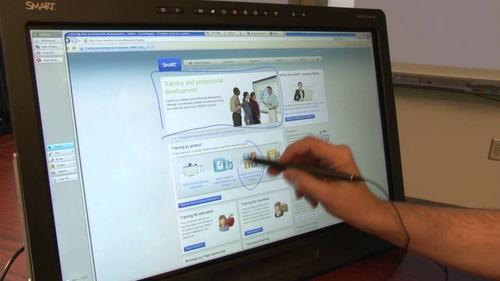 smart podium visor interativo com caneta