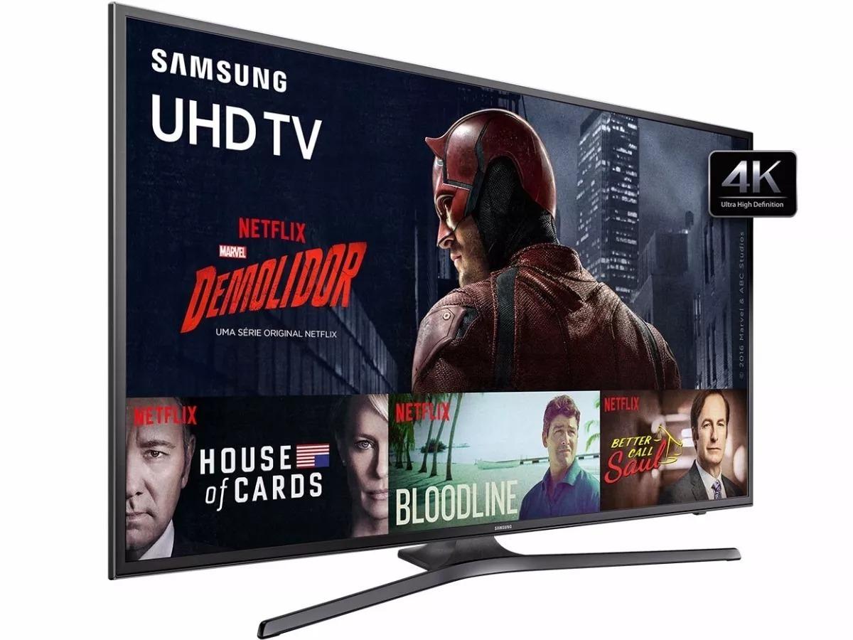 Oferta ➤ Smart TV 40″ Samsung 40KU6000 Ultra HD 4K HDR com Conversor Digital 3 HDMI 2 USB 120Hz (Cód. 128293746)   . Veja essa promoção
