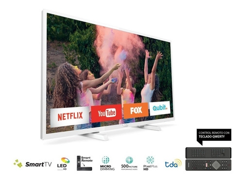 smart tv 32 blanco philips hd 32phg5833/77 con marco blanco!