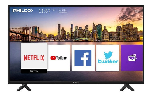 smart tv 32 philco pld32hs9b hd wifi netflix tio musa