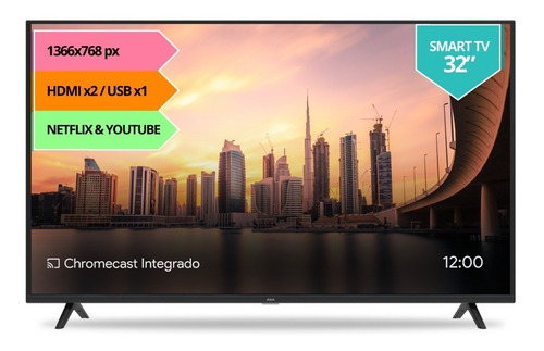 smart tv 32 rca android hd xc32sm netflix bt youtube 12cts