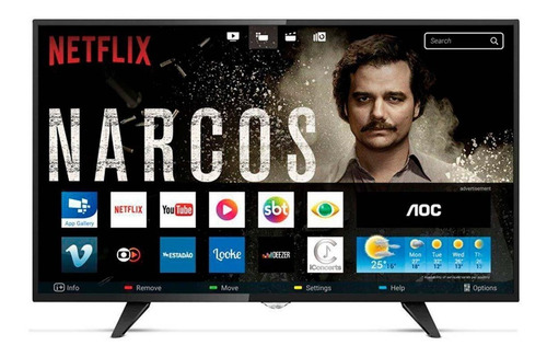 smart tv 43  aoc full hd conversor digital wi-fi usb hdmi