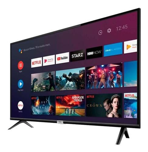 smart tv 43  led hd tcl 43s6500fs android e comando de voz