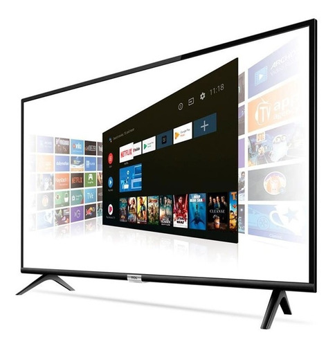 smart tv 43 led tcl 43s6500 full hd com comando de voz wi-fi