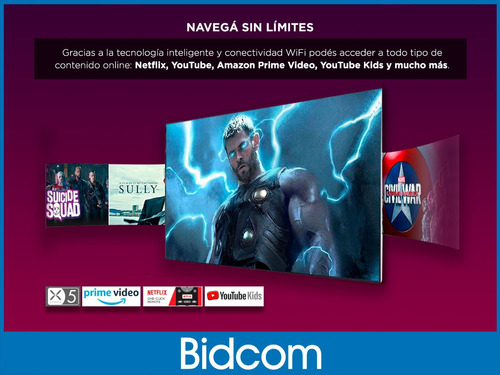 smart tv 43 noblex fhd x5100 netflix gtía bidcom ¡12 cuotas!