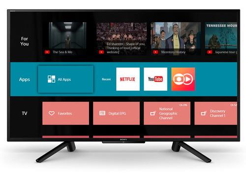 smart tv 43  sony  led fhd hdr smart & durável kdl-43w665f