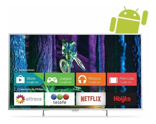 smart tv 49 4k philips con android 49pug6801/77 bluetooth
