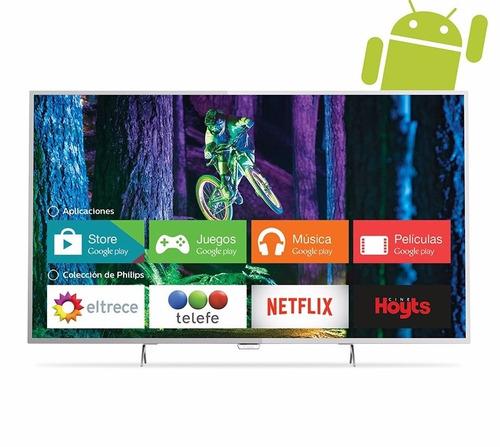 smart tv 49 4k philips led 49pug6801 c/android netflix