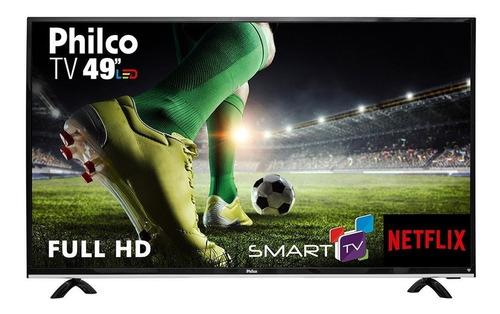 smart tv 49  led philco ptv49e68dswn full hd 1 usb 3 hdmi