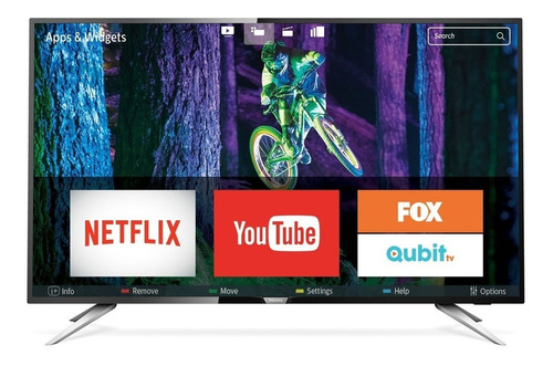 smart tv 4k 43 pulgadas philips 43pug6102/77 uhd ultraslim netflix youtube qwerty wifi hdmi usb gtia oficial cuotas