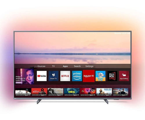 smart tv 4k 65 pulgadas philips 65pud6794/77 ambilight cuota