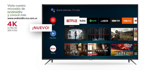 smart tv 50'' 4k rca x50andtv uhd android youtube netflix cu