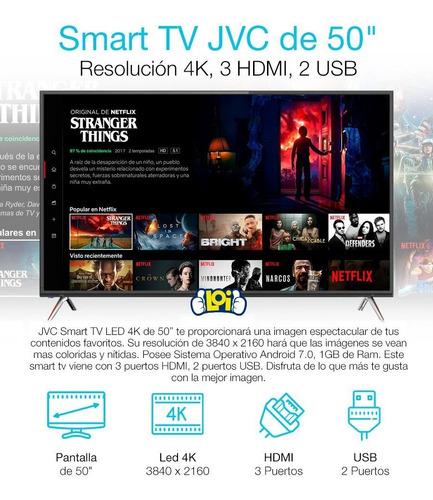 smart tv 50' 4k ultrahd jvc quad core android 7.0 en loi