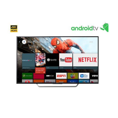 smart tv 65  led 4k sony kd-65x7505d wi-fi, hdr e android tv