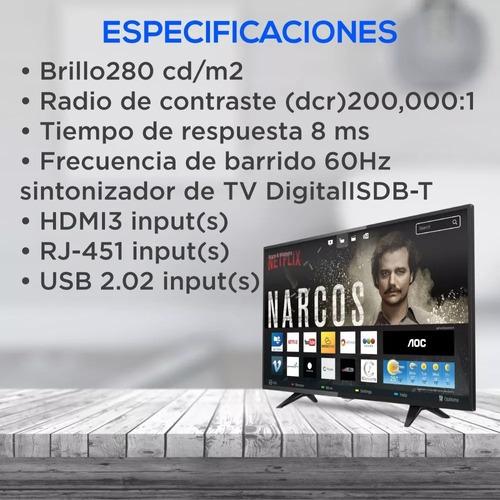 smart tv aoc 43  full hd le43s5970 ( netflix)