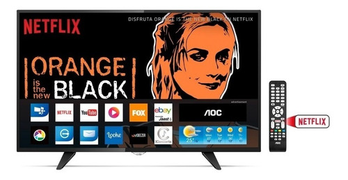 smart tv aoc 43   led - full hd  / factura + envío gratis
