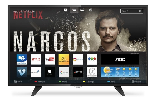 smart tv aoc led 32 usb hd wifi netflix youtube netpc