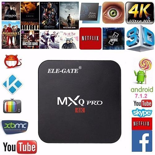 smart tv box 4k android 7.1 quad-core 1g/8g mayoreo ele-gate