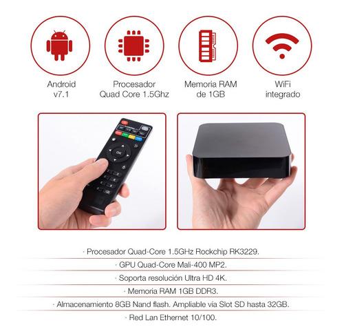 smart tv box 4k ultrahd quad core kolke wifi android 7.1 loi