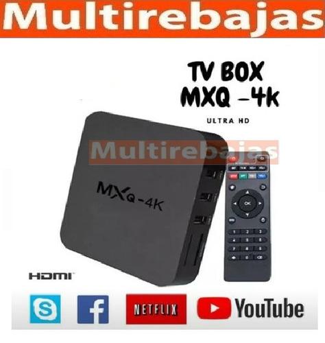 smart tv box 4k wifi mxq android convertidor