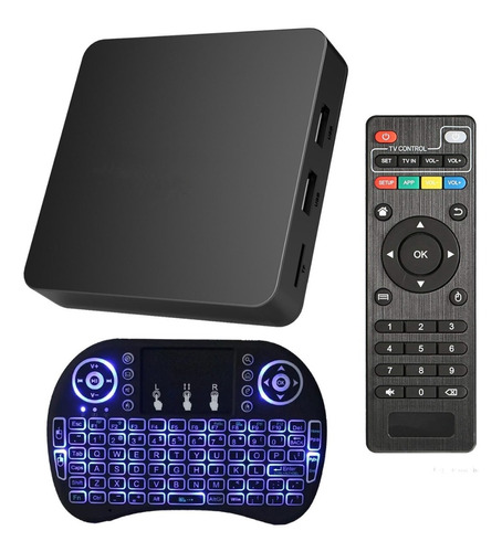 smart tv box android tv full hd quad core + mini teclado