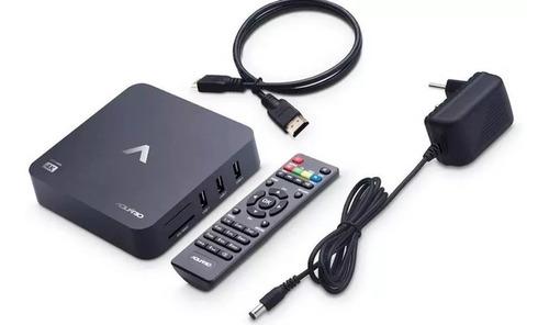 smart tv box aquário stv-2000 android netflix youtube
