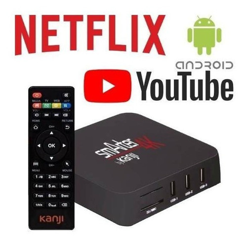 smart tv box convertidor android 7 netflix hdmi 4k conversor