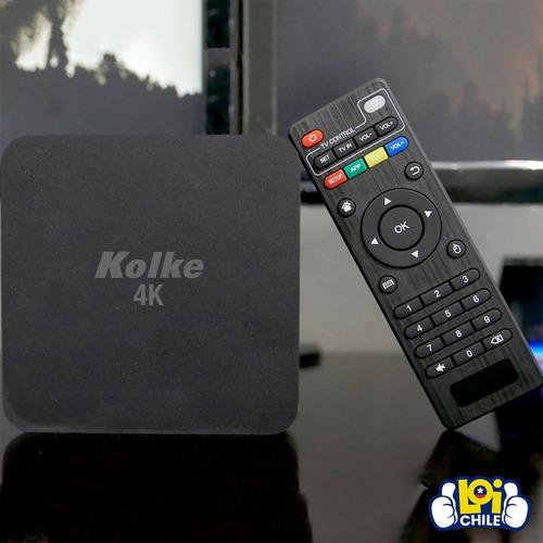 smart tv box kolke android 8,1 ultra hd 4k 2gb 16gb netflix