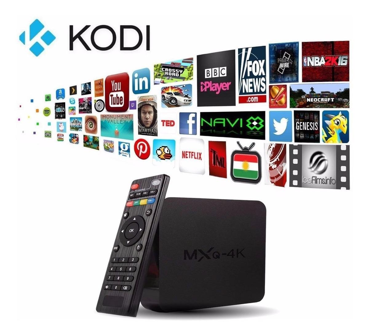 Smart Tv Box Mxq4k Android 6 0 Kodi Netflix Iptv Retirar Rj