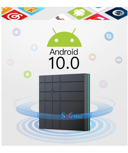 smart tv box s96 max 4/64gb android10 + 1 mes iptv obsequio