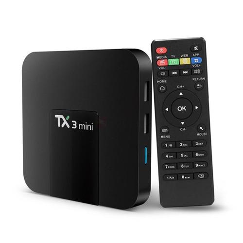 smart tv box tx3 mini 4k 16gb android wifi usb netflix hdmi