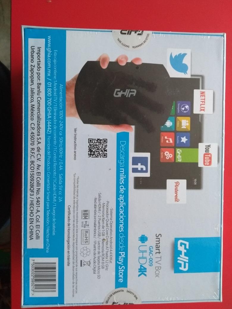 Smart Tv Box. Uhd4k. Cable X Internet Gratis - $ 750.00 en Mercado Libre