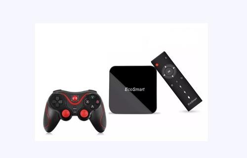 smart tv box última generación con joystick inalámbrico