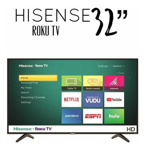 smart tv de 32  led roku tv