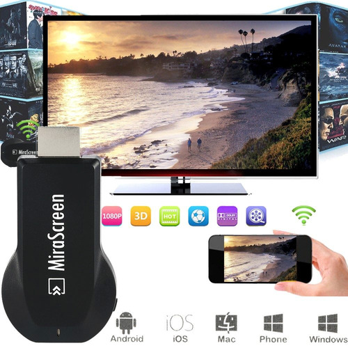 smart tv hdmi wifi mirascreen anycast miracast espejo andro