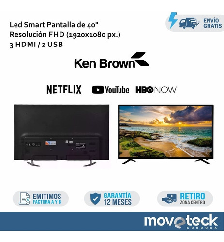 smart tv ken brown 40 led kb40s3000sa garantia