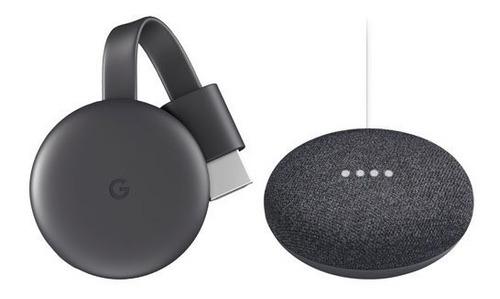 smart tv kit google home mini + chrome cast 3