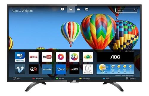 smart tv led 32  aoc le32s5970s hd com wi-fi, 2 usb, 3 hdmi