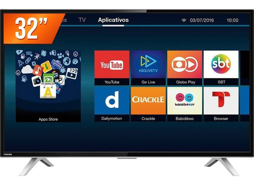 smart tv led 32'' hd toshiba 32l2600 2 hdmi 1 usb wi-fi
